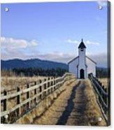 The Morley Church, Alberta, Canada Acrylic Print by Philippe Widling