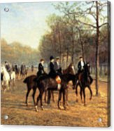 The Morning Ride Rotten Row Hyde Park Acrylic Print by Heywood Hardy