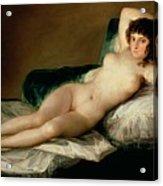The Naked Maja Acrylic Print by Goya