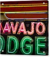The Navajo Lodge Sign In Prescott Arizona Acrylic Print by David Patterson