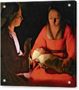 The New Born Child Acrylic Print by Georges de la Tour