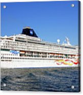 The Norwegian Sun Is Leaving Acrylic Print by Susanne Van Hulst