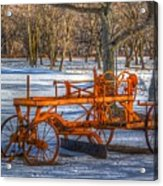 The Old Grader Acrylic Print by Robert Pearson