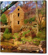 The Old Mill Acrylic Print by Renee Skiba