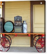 The Old Train Depot  - 5d18420 Acrylic Print by Wingsdomain Art and Photography