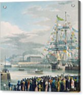 The Opening Of Saint Katharine Docks Acrylic Print by Edward Duncan