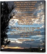 The Original Serenity Prayer Acrylic Print by Glenn McCarthy Art and Photography