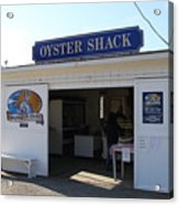 The Oyster Shack At Drakes Bay Oyster Company In Point Reyes California . 7d9832 Acrylic Print by Wingsdomain Art and Photography