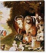 The Peaceable Kingdom Acrylic Print by Edward Hicks
