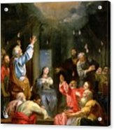 The Pentecost Acrylic Print by Louis Galloche