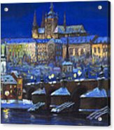 The Prague Panorama Acrylic Print by Yuriy  Shevchuk