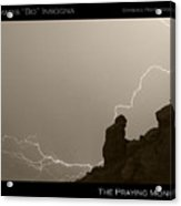 The Praying Monk Camelback Mountain Acrylic Print by James BO  Insogna