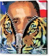 The Prez Acrylic Print by Anthony Caruso
