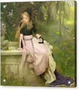 The Princess And The Frog Acrylic Print by William Robert Symonds