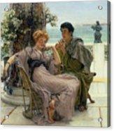 The Proposal Acrylic Print by Sir Lawrence Alma Tadema