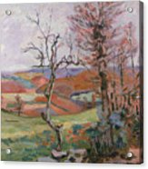 The Puy Barion At Crozant Acrylic Print by Jean Baptiste Armand Guillaumin