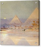 The Pyramids At Dusk Acrylic Print by Augustus Osborne Lamplough