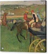 The Race Course Acrylic Print by Edgar Degas