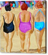 The Real South Beach Acrylic Print by Michael Lee