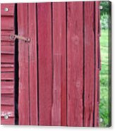 The Red Door Acrylic Print by Tina B Hamilton