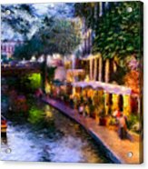 The River Walk Acrylic Print by Lisa  Spencer