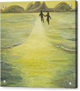 The Road In The Ocean Of Light Acrylic Print by Karina Ishkhanova