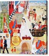 The Royal Wedding Acrylic Print by Pat Barker