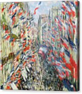 The Rue Montorgueil Acrylic Print by Claude Monet