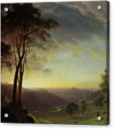 The Sacramento River Valley  Acrylic Print by Albert Bierstadt