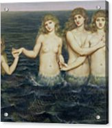 The Sea Maidens Acrylic Print by Evelyn De Morgan