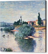 The Seine At Lavacourt Acrylic Print by Claude Monet
