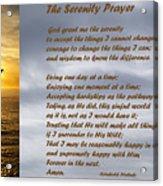 The Serenity Prayer Acrylic Print by Barbara Snyder
