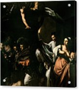 The Seven Works Of Mercy Acrylic Print by Caravaggio