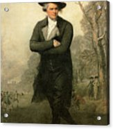The Skater Portriat Of William Grant Acrylic Print by Gilbert Stuart