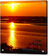 The Sound Of Sunset Acrylic Print by Laura Brightwood