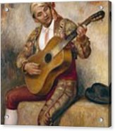 The Spanish Guitarist Acrylic Print by Pierre Auguste Renoir