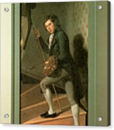 The Staircase Group Acrylic Print by Charles Wilson Peale