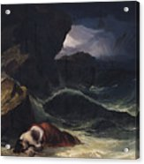 The Storm Or The Shipwreck Acrylic Print by Theodore Gericault