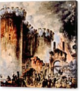 The Storming Of The Bastille, Paris Acrylic Print by Everett