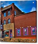The Strand Theatre - Old Forge New York Acrylic Print by David Patterson