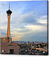 The Stratosphere In Las Vegas Acrylic Print by Susanne Van Hulst