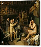 The Studio Of Jean Antoine Houdon Acrylic Print by Louis Leopold Boilly
