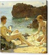 The Sun Bathers Acrylic Print by Henry Scott Tuke