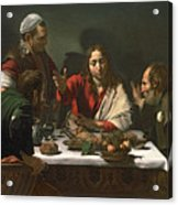 The Supper At Emmaus Acrylic Print by Caravaggio