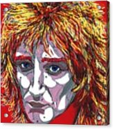 The Tartan Of Rod Stewart Acrylic Print by Suzanne Gee