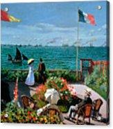 The Terrace At Sainte Adresse Acrylic Print by Claude Monet