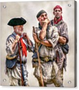 The Three Frontiersmen  Acrylic Print by Randy Steele