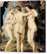 The Three Graces Acrylic Print by Peter Paul Rubens