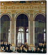 The Treaty Of Versailles Acrylic Print by Sir William Orpen