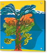 The Tree Of Life. From The Viking Saga. Acrylic Print by Jarle Rosseland